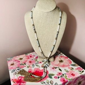 Francesca's Beaded Tassel Necklace